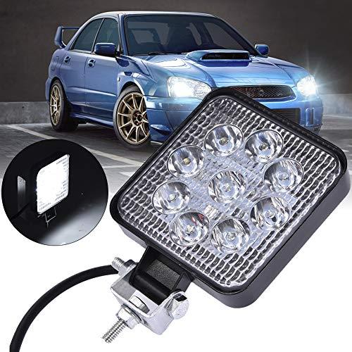 Bellanny 27W LED Arbeitsscheinwerfer, 2160LM LED Offroad Scheinwerfer 12V-24V Zusatzscheinwerfer 6500K IP67 Wasserdicht Flutlicht für SUV, Truck, Traktor oder schweres Gerät - Quadrat