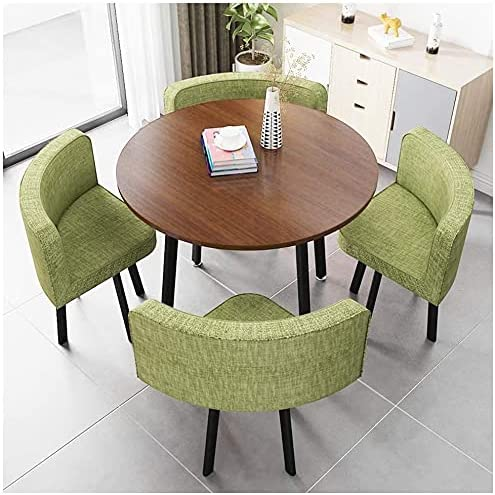 Round Dining Table and Chair Set Max 75% OFF Chairs 1 Library 4 Movie Limited time cheap sale