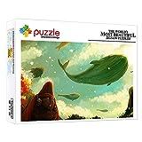 Puzzles 1000 Piezas Ballena Volando En El Cielo Animal Fantasía 1000 Piezas Jigsaw Puzzle Game Para Niños Adultos Rompecabezas Educativos Juegos Para Regalos De Cumpleaños Hijo Hija 15 X 10 Pulgada