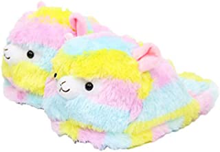 EASTVAPS Sheep Lamb Winter Cotton Shoes Anime Striped Warm Slippers