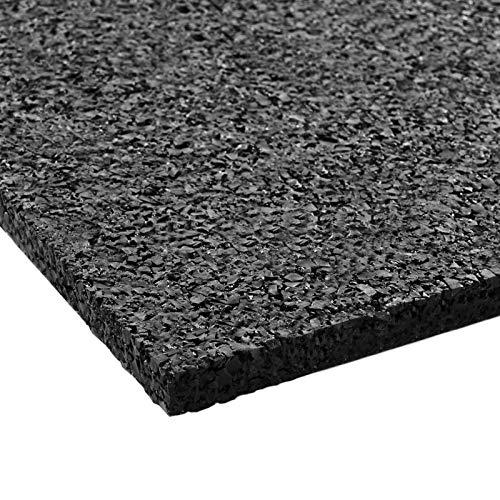 Floordirekt PRO Antivibration Schutzmatte - Gummigranulat - 60x60x1cm - für alle Böden und viele Anwendungsbereiche