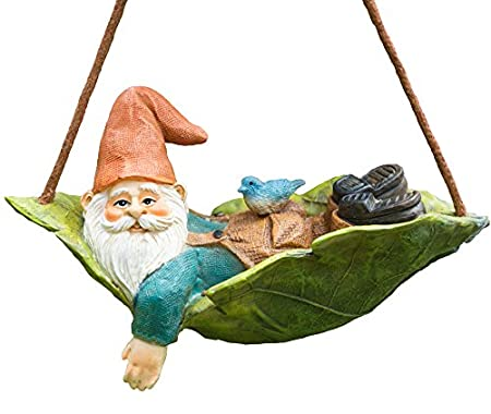 Relaxing on a hammock made from a leaf