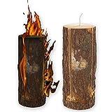 Bûche torche suédoise de 50 cm, Lanterne de jardin