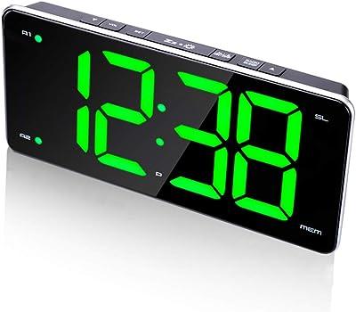 Reloj Despertador para los durmientes Pesados Relojes de Escritorio de la Radio FM Hogar