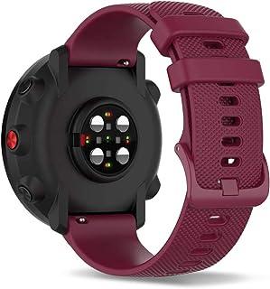 Ficocean 20mm Siliconen Horlogeband Snelsluiting Horlogebandje Compatibel met Polar Ignite 2 /Ignite /Unite /Garmin Venu s...