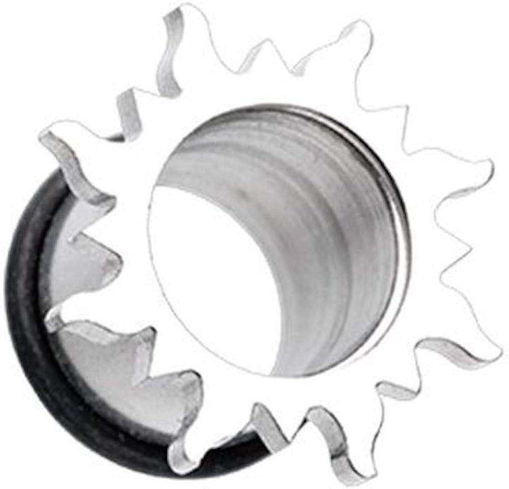 Covet Jewelry Sun Burst Steel Single Flared Ear Gauge Plug