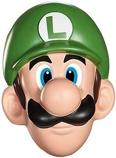 Disguise Men's Nintendo Super Mario Bros.Luigi Adult Mask Costume Accessory