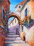 Poster 50 x 70 cm: Mediterrane Gasse von Marita Zacharias -