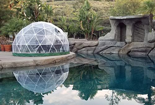 "Sonostar Hub - Standard 1/2"" PVC Bubble Dome Kit - 11.75' Patio Greenhouse, Gazebo, Play Area, Conservatory (PVC, Black)"