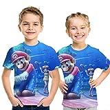 スーパーマリオキッズTシャツ3Dカジュアル半袖Tシャツ 85424,150cm