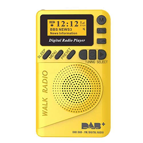 ZHEN AM FM Portable Pocket Radio - The Best Reception and Longest Life. AM FM Compact Radio Player, 1000mAh Rechargeable Lithium-Ion Battery, Stereo Headphone Jack