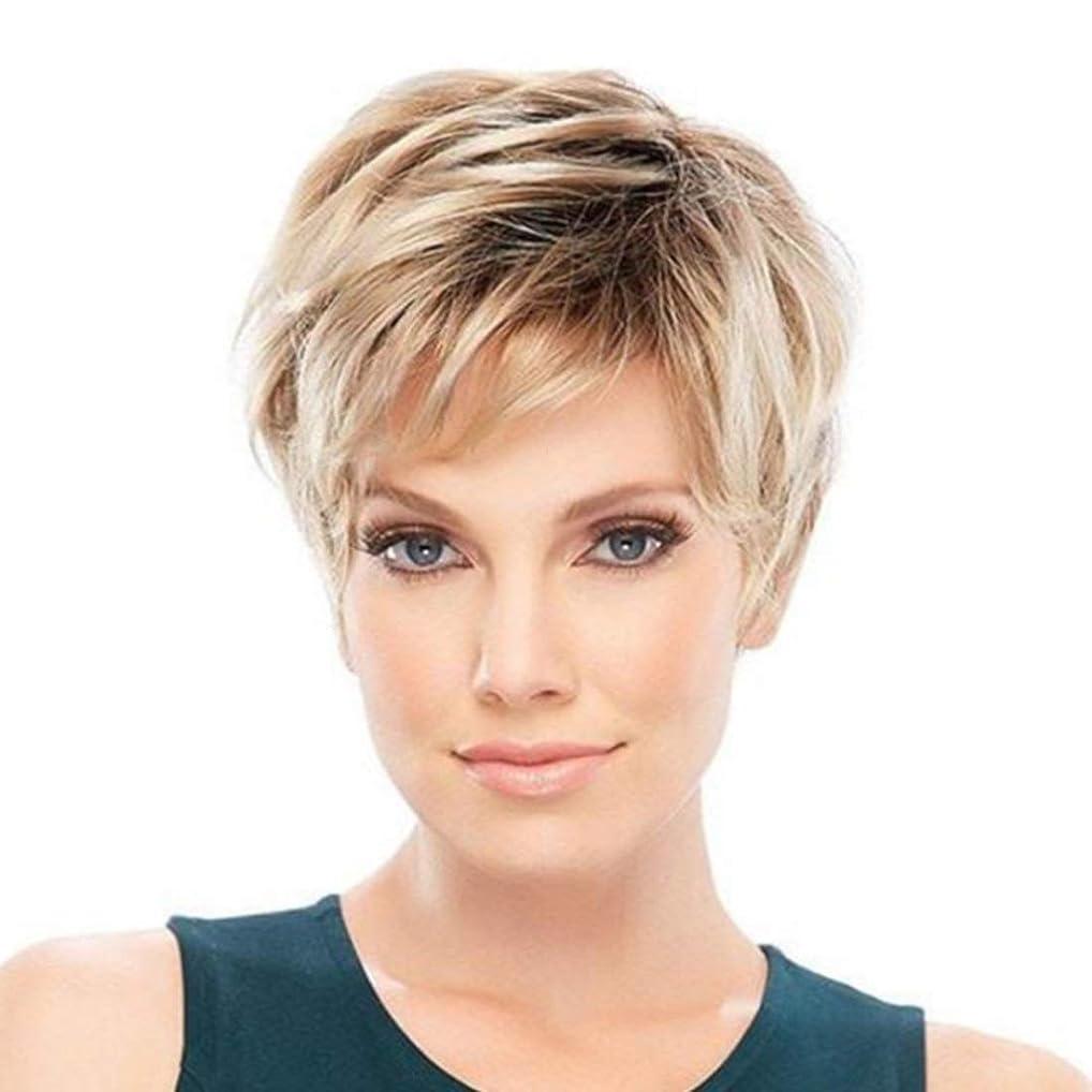 登場愛国的なしたいSummerys 女性のための短いストレートヘアウィッグ化学繊維高温シルクウィッグヘッドギア