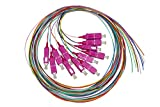 LINK LKSC12PT4 Set 12 Cavi Pigtail Fibra Ottica Colorati CONNETTORI SC OM4 SIMPLEX 2 MT