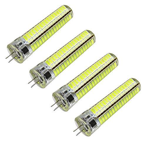 CHUI 4pc LED Maiskolben G4 AC/DC 12-24V,7W 120 SMD5730 Silikon Energiesparende Birne 60W Halogen Glühbirne Äquivalent 700 Lm Warmweiße Kaltweiße Dekorative Maiskolben Bi-Pin Lampe Nicht Dimmbar,6500K