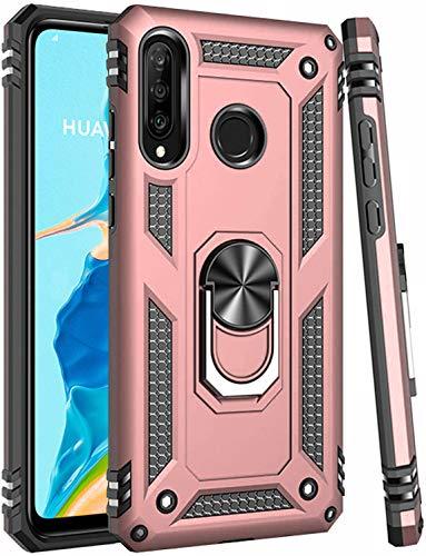 Oihxse - Carcasa para Huawei P Smart Z/Y9 Prime 2019, doble híbrida antigolpes, carcasa de protección de 360 grados con anillo soporte magnético antiarañazos