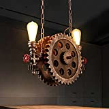 Gweat Lampadario a ruota dentata stile retrò industriale per ristorante bar caffetteria s...