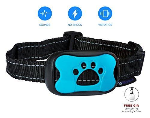 No Bark Collar dog Training . NO SHOCK . Vibration & Sound Humane Device