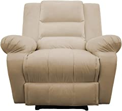 Classic Recliner Chair Upholstered Nice 02 - Beige