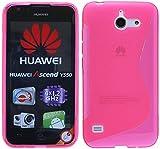 ENERGMiX S-Line TPU SchutzHülle kompatibel mit Huawei Ascend Y550 Silikon Hülle in Pink