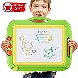 U-HOME zaubertafeln fr Kinder, 43 x 37cm Kinder zaubertafel Groe Doodle Board Pad Bunt Zeichenbrett mit 3 Magnetische Stempel fr Kinder 3 4 5 Jahre Alt
