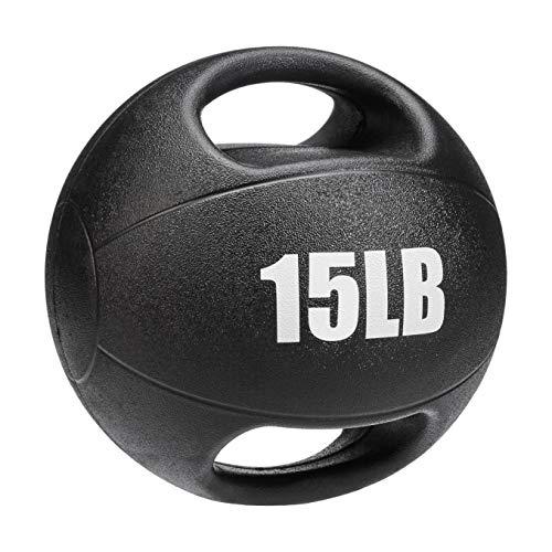 AmazonBasics Medicine Ball with Handles, 15-lb