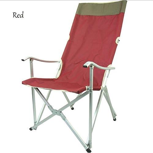 GRAND zx-Alliage D'Aluminium ExtéRieur Oxford Tissu Pliant Chaise Dossier Fauteuil Chaise De PêChe Portable Chaise De Plage