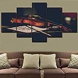 Zaosan Música Pintura Pared Arte decoración música Aula 5 Instrumentos violín Cartel Top Lienzo Imprimir imágenes