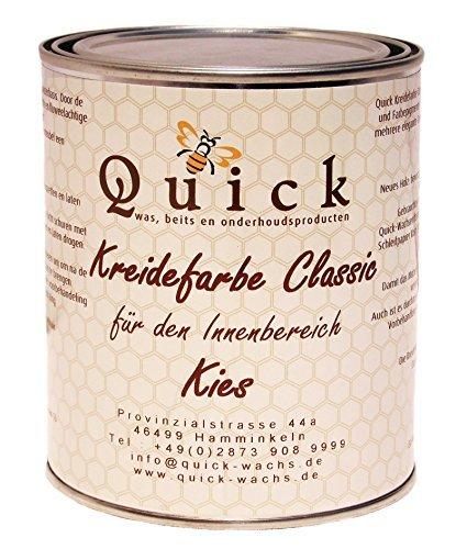 Quick Kreidefarbe Classic für Shabby Chic und Landhaus Stil Antiklook Möbelfarbe Farbe (Kies, 1 Liter)