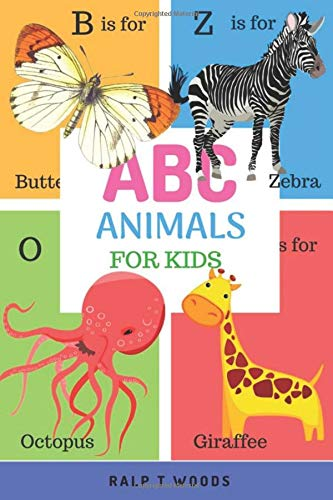 ABC Animals for Kids: Picture Book To Learn Animal Name Vocabulary