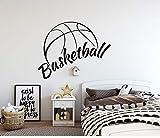 yaonuli Sticker Mural de Basket-Ball Vinyle Autocollant garçon Chambre décoration Chambre Mur Autocollant Papier Peint étanche amovible63X50 cm