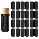 Chair Leg Socks, 24 Pcs Furniture Socks Chair Leg Floor Protectors, Non Slip High Elastic Furniture Caps Covers, Furniture Pads Set(Black)