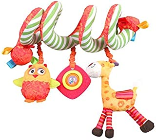 Hot Deals Labebe Car Seat Toy, Hanging Toy for Baby with Yellow Giraffe & Owl, Baby Crib Toy/Fox Car Seat Toy Car Seat/Baby Stroller Toy/Owl Crib Toy/Owl Car Seat Toy/Giraffe Stroller Toy
