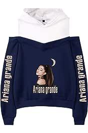 KIACIYA Damen Mode Ariana Grande 7 Rings Sweatshirt Teenager Jungen M/ädchen Pullover Rundhalskragen Tops Frauen Langarm Pullover Hoodie Sweatshirts Taschen Einfarbig M/änner Kapuzenpullover