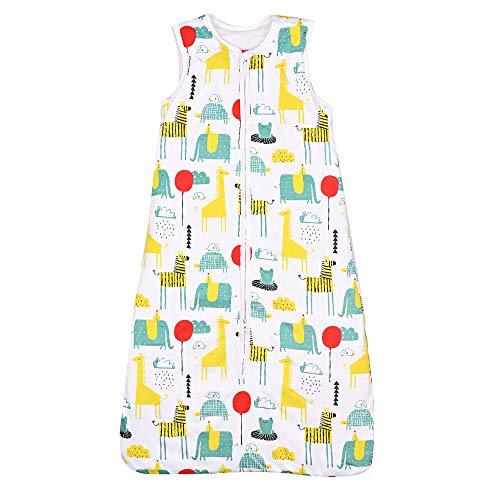 Nabance Schlafsack Baby Winterschlafsack 100% Baumwolle Baby Schlafsack 2,5 Tog 90-110 cm Einstellbar Babyschlafsack für Winter, 18-36 Monate