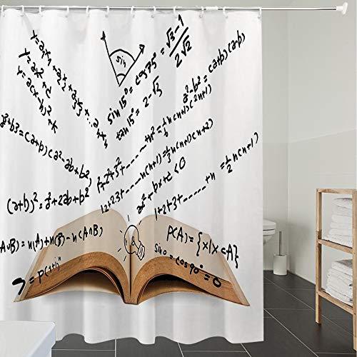 Duschvorhänge, Textil Bad Vorhang aus Polyester, Anti-Schimmel, Kabuki Maskendekoration, Verschiedene farbige Masken japanische Dämonin verzierte,Blickdicht, Wasserdicht, Waschbar, 120X180CM