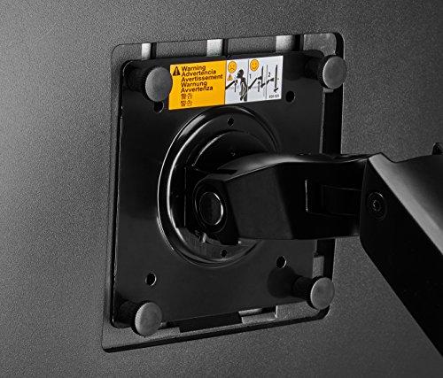 Amazonベーシックモニターアームシングルディスプレイタイプ2点セットブラック