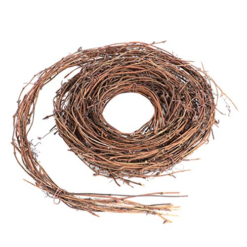 BESPORTBLE Grapevine Wreath Natural DIY Craft Natural Rattan Wreath Wooden Twig Wreath for Door Wall Party Christmas Decoration