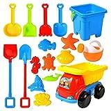 NRRN Juego de juguetes de playa, cubo y pala Set juguetes de arena para niños pequeños,Herramientas de playa de agua divertidas para niños