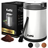 KF2020 Electric Coffee Grinder by Kaffe - Stainless Steel 3oz Capacity with Easy On/Off Button....