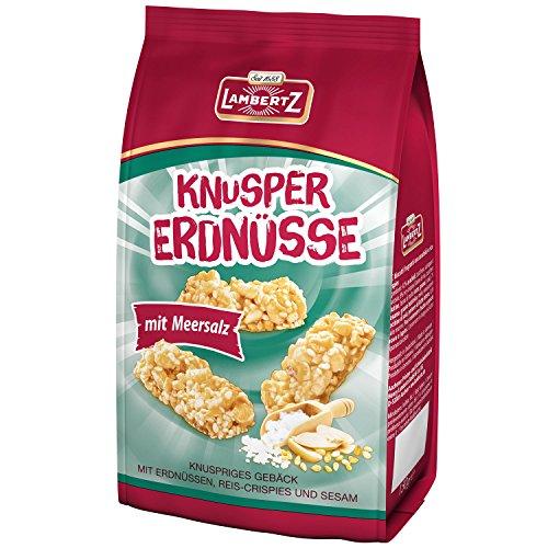 Lambertz 45811 Knusper Erdnüsse mit Reis-Crispies, Sesam und Meersalz ,150 g