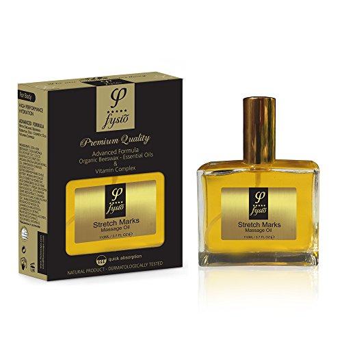 Massageöl Bio Dehnungsstreifen Körperöl mit Bienenwachs, Oliven Öl & Ätherische Öle   Nährende Feuchtigkeit mit Wirkstoffen für Reduktion, Entfernung und...