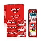 Colgate Kit Blancheur avec Dentifrice Colgate Max White Luminous 75ml et Brosse à dents blancheur Colgate 360 Max White One lot de 3 (Beauté et hygiène)