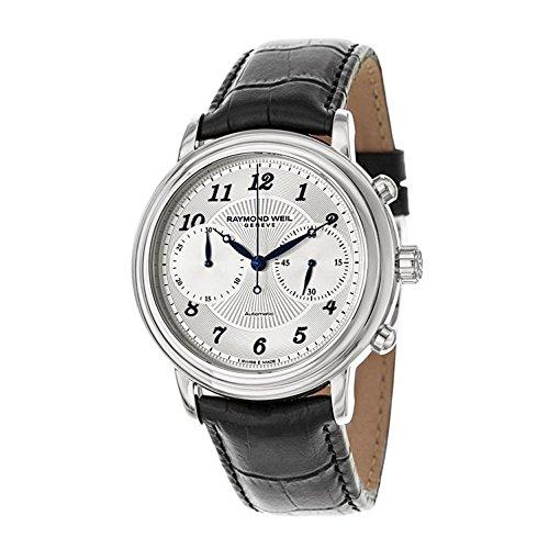 Raymond Weil 4830-stc-05659–Uhr für Männer, Lederband schwarz