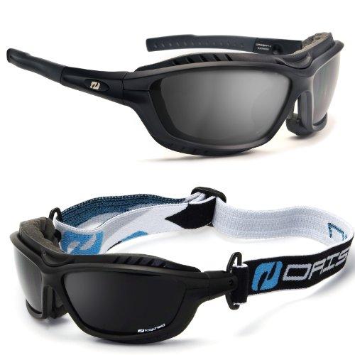 Daisan Sportbrille mit Wechselgläsern, Band und Windschutz