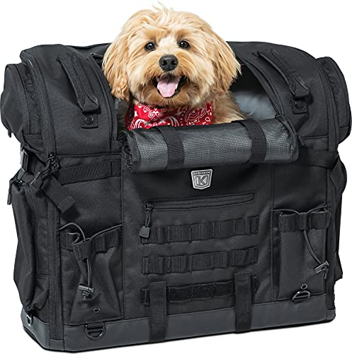 Kuryakyn 5723 Titan Pet Palace: Portable Weather Resistance and Heat Reducing Motorcycle Dog/Cat Carrier Crate for Touring Seat, Black