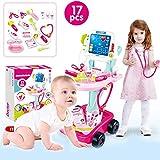 cuckoo-X Chariot médical de Jeu médical de Docteur de Jouet d'enfants portatifs réglé, 17pcs / 23pcs réglé avec l'écran de...