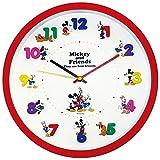 Disney 壁掛け時計 アイコンウォールクロック アナログ表示 連続秒針 ミッキーフレンズ 734474