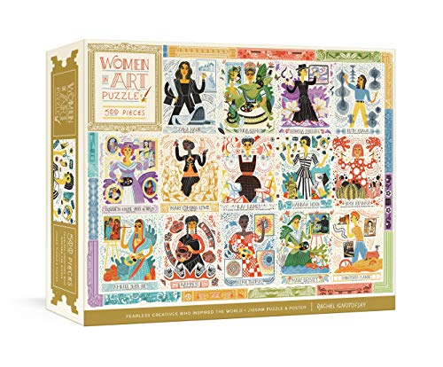 Compare Textbook Prices for Women in Art Puzzle: Fearless Creatives Who Inspired the World 500-Piece Jigsaw Puzzle and Poster: Jigsaw Puzzles for Adults and Jigsaw Puzzles for Kids  ISBN 9780593233016 by Ignotofsky, Rachel