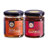 RAREARTH 100% Natural, Organic Apple Jam - Orange Marmalade Combo of 2 (225g Each)