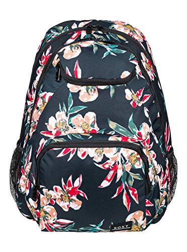Roxy Womens Shadow SWELL Printed Backpack, Anthracite Wonder Garden S, Medium